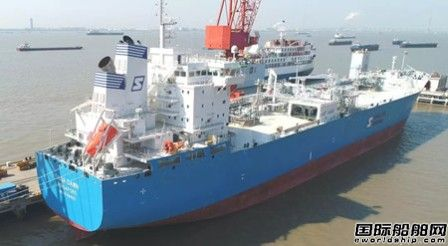 招商局重工(江苏)首艘45000方LNG船命名
