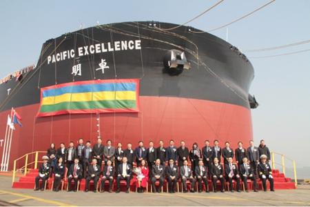 外高桥造船交付第二艘世界最大智能船
