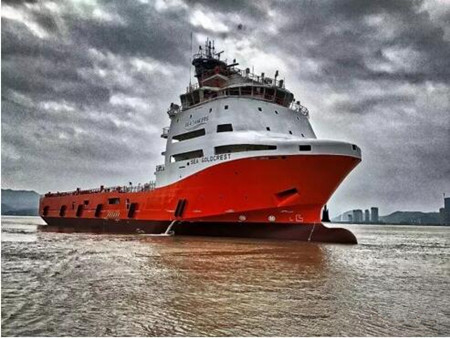 马尾造船88.8米多用途平台供应船成功交付