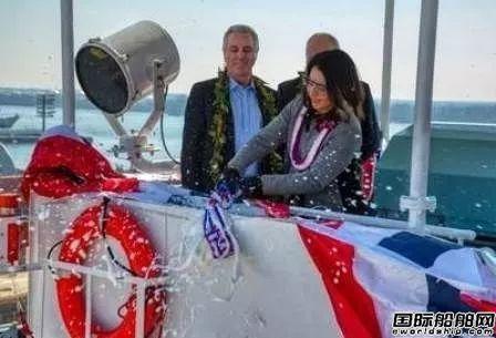 美森轮船旗下美国建造最大集装箱船命名