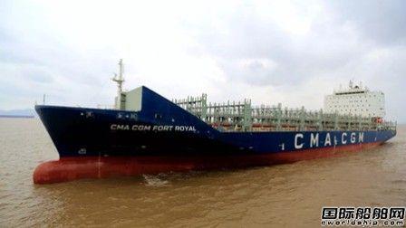 舟山中远海运重工3300TEU集装箱船试航创佳绩
