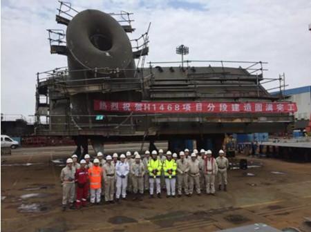 外高桥造船Fast4ward FPSO首制船分段建造圆满完工