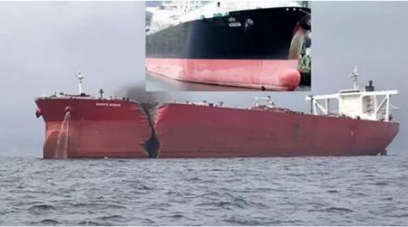一艘液化气船和一艘油船阿曼湾发生严重碰撞