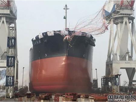 舟山常石造船一艘81600载重吨散货船下水