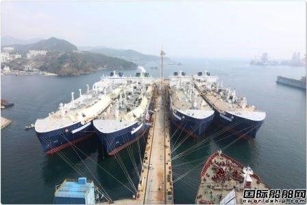 大宇造船4艘17.4万方破冰LNG船同时命名
