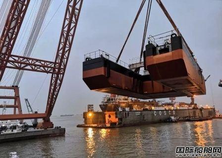 南通中远船务建造抛锚驳按时交付发运