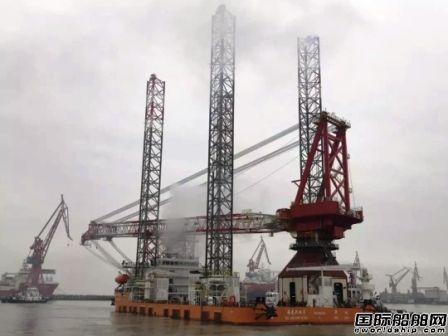黄埔文冲1200吨自升式风电安装平台试航凯旋