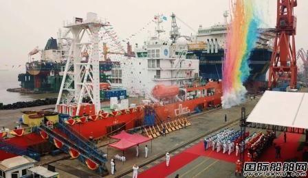 """南通中远船务交付多功能起重打捞船""""凯力""""轮"""