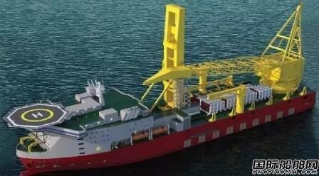 七一一所中标JSD6000深水起重船项目