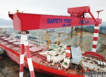 舟山太平洋海工进行全球首艘40万吨级VLOC脱硫改装