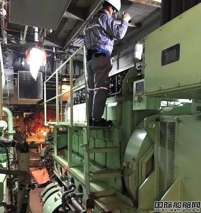 沪东中华49000吨化学品船2号船发电机动车