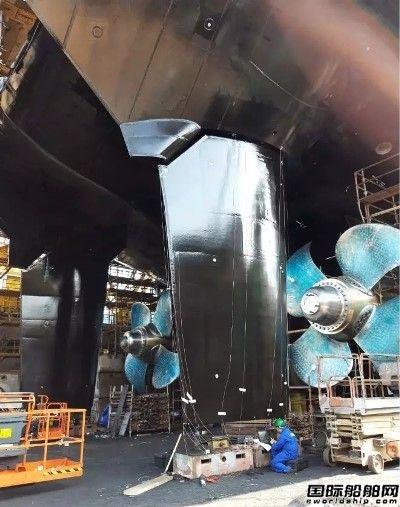 达门完成澳洲南极科考船舵系设备安装