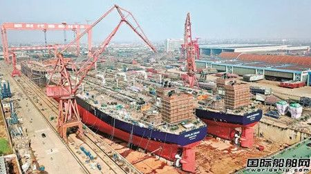"""新时代造船首季交付船舶11艘迎来""""开门红"""""""