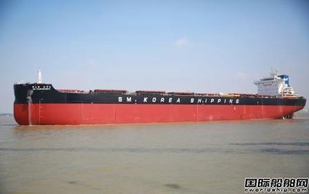 中船澄西交付一艘82000吨散货船
