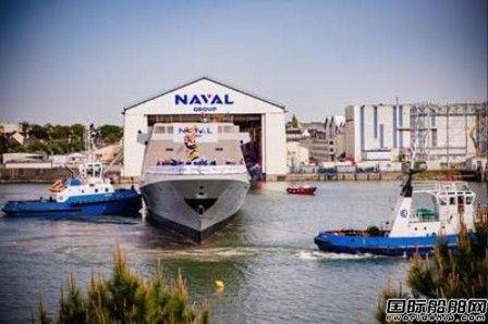 """法国海军集团下水""""阿尔萨斯""""号欧洲多任务护卫舰"""