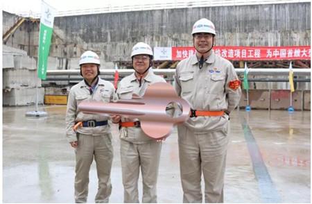 外高桥造船大型邮轮项目2#船坞加固区改造完工投产