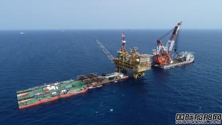 """""""华天龙""""完成国内第二大海上油气平台安装工作"""