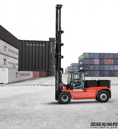 Kalmar推出电动空集装箱堆码车