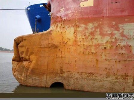 """广东中远海运重工""""吉野""""轮球鼻艏海损修理工程完工"""