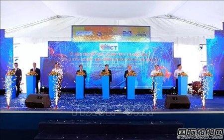 越南海防新港国际集装箱港迎来最大集装箱船
