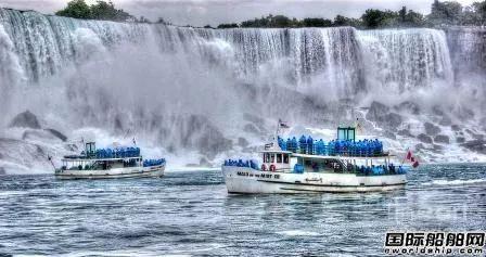 美国建造首艘零排放客船观赏尼亚加拉瀑布美景