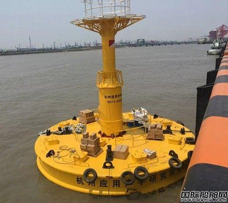 杭州瑞利自主研发十米大型浮标顺利下水