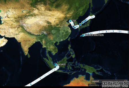 10多艘船正在加速驶往中国~