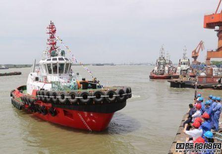 镇江船厂交付我国首款2艘智能化全回转拖船