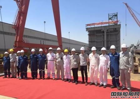 江苏大洋海装600T自升式多功能风电安装平台上船台