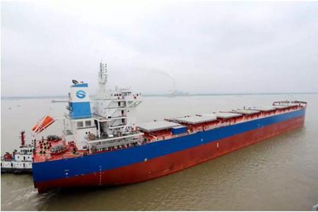 金陵船厂又一艘82000吨散货船完成海试