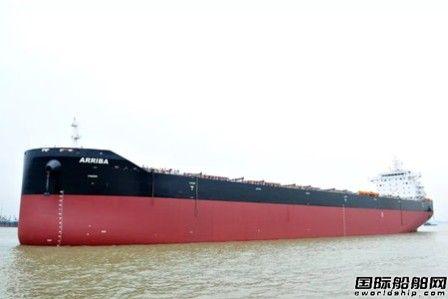 扬子江船业一艘82000吨散货船命名