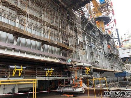 外高桥造船H1419项目悬臂梁滑移及钻井绞车完工
