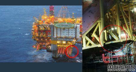 挪威国油北海平台与一艘PSV相撞