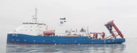 """文冲船坞完成""""探索一号""""科考船第三次升级改造"""