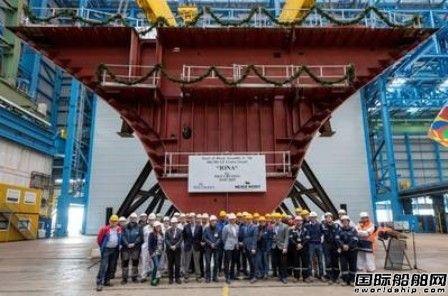 Meyer Werft为P&O首艘LNG动力邮轮铺设龙骨