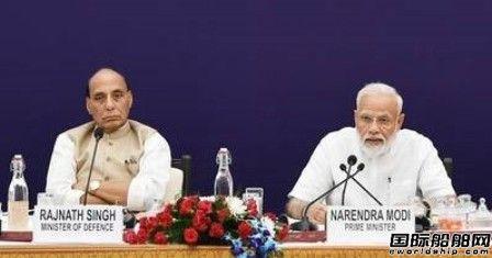 印度政府将耗资65亿美元建造6艘潜艇
