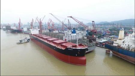 广东中远海运重工修船迎战26船同期在厂生产高潮