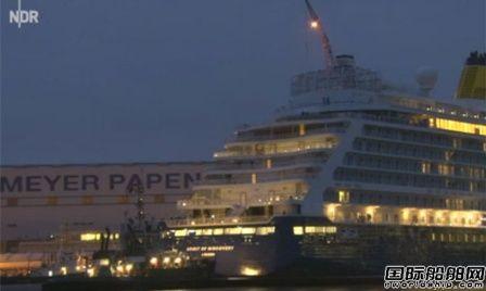 刚刚离开船厂!这艘新邮轮交付当天撞了
