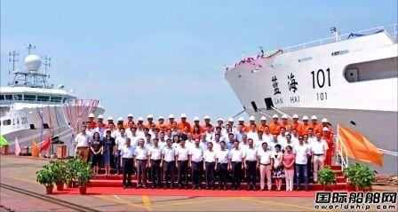 沪东中华交付两艘国内最大海洋渔业调查船