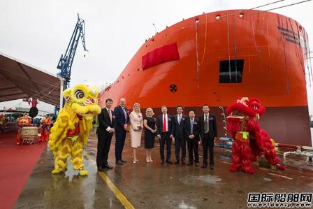 沪东中华2艘全球最先进49000吨化学品船同日命名
