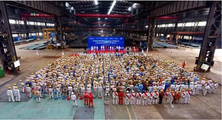 舟山中远海运重工举行Karish FPSO项目200万安全工时奖励仪式