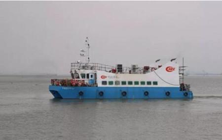 航通船业一艘96客位交通艇试航