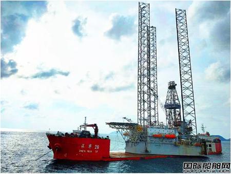 """""""振华28""""轮在印尼Natuna成功完成浮卸作业"""