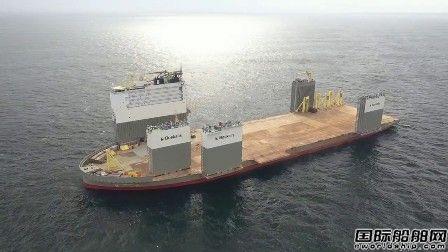 """全球最大半潜船变身""""浮船坞""""维修邮轮"""