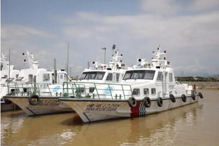 江龙船艇交付17.95米批量海事执法艇