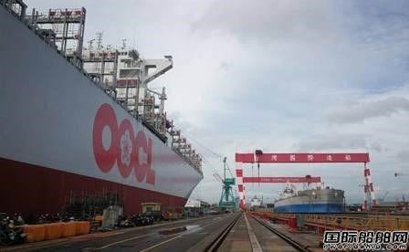台船首次完成13000TEU集装箱船改装废气洗涤器