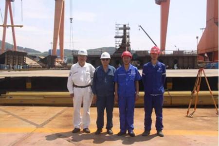 青岛武船一艘86000吨散货船顺利开工