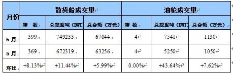 国内船舶交易市场月度报告(2019.06)