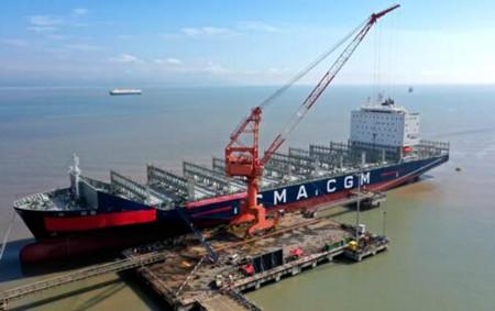 舟山中远海运重工交付达飞第4艘3300TEU集装箱船