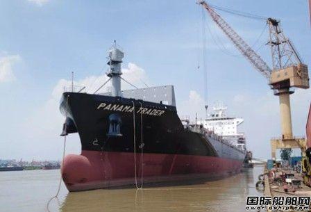 广东中远海运重工1750TEU系列4号船提前完成倾斜试验